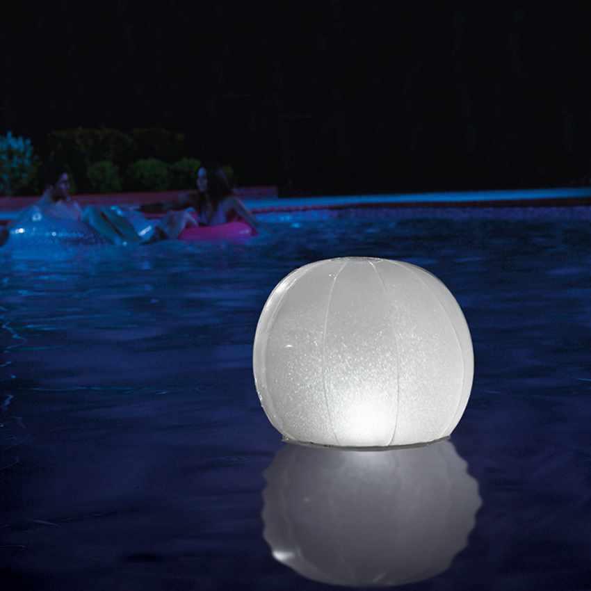 Luce Led Galleggiante Intex Palla Sfera Luminosa Per Piscina E Giardino Rizzello Gas Store